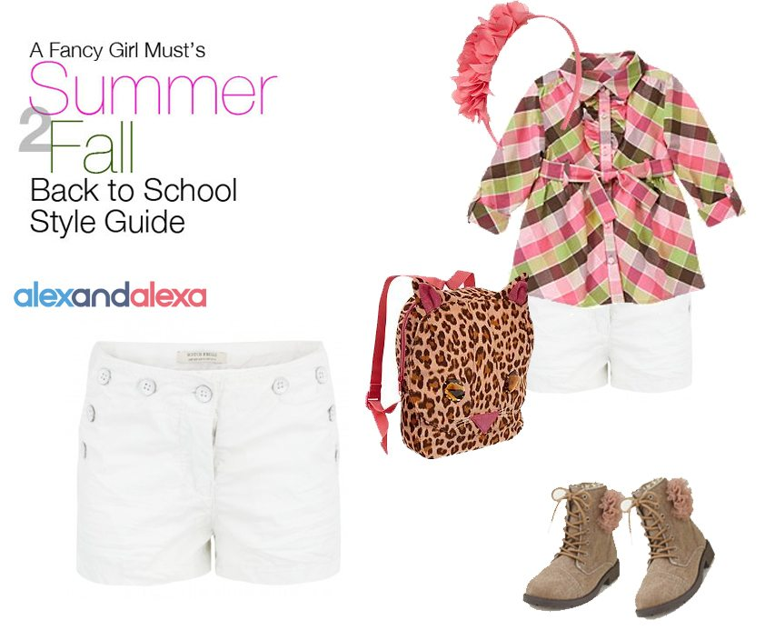Summer 2 Fall Back to School Style Guide: White Shorts After Labor Day | AFancyGirlMust.com