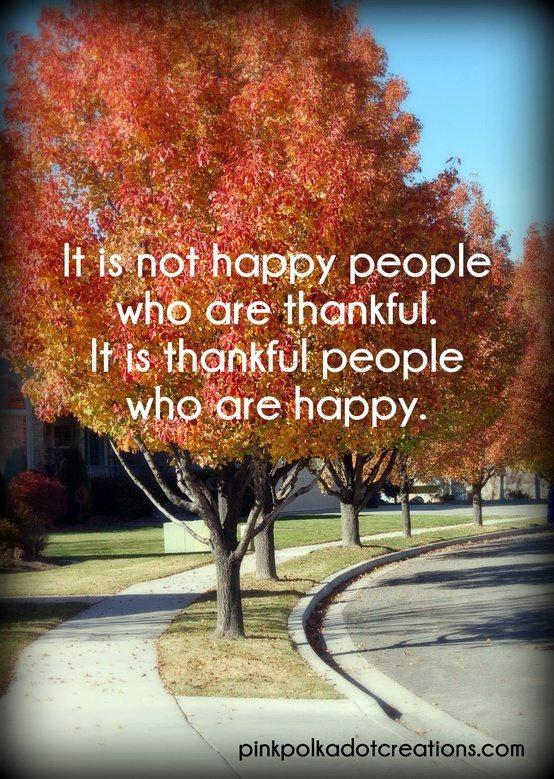 Be Thankful, Be Happy