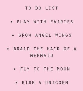 To Do List for Little Girls
