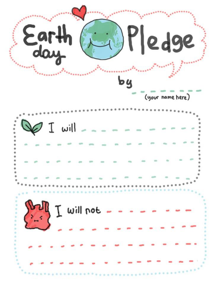Earth Day Pledge from babalisme.blogspot.com