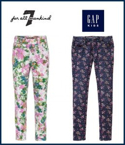 Floral Jeans for Girls: 7 for Mankind and Gap