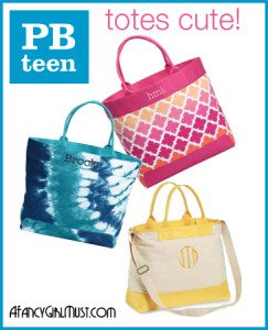 PotteryBarn Teen Totes for Summer