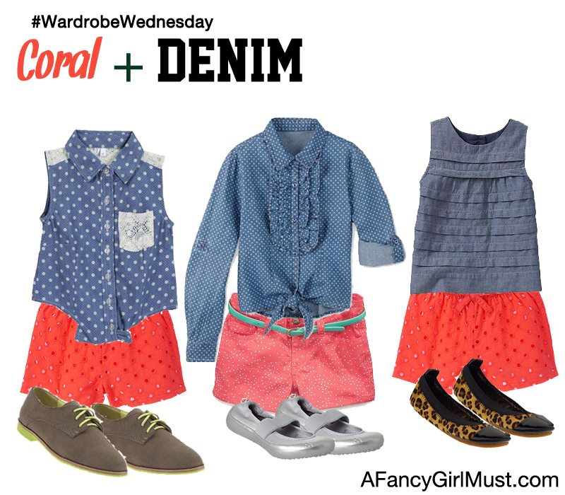 #WardrobeWednesday: Coral + Denim | AFancyGirlMust.com