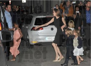 Zahara and Vivienne Jolie-Pitt in Pale Cloud