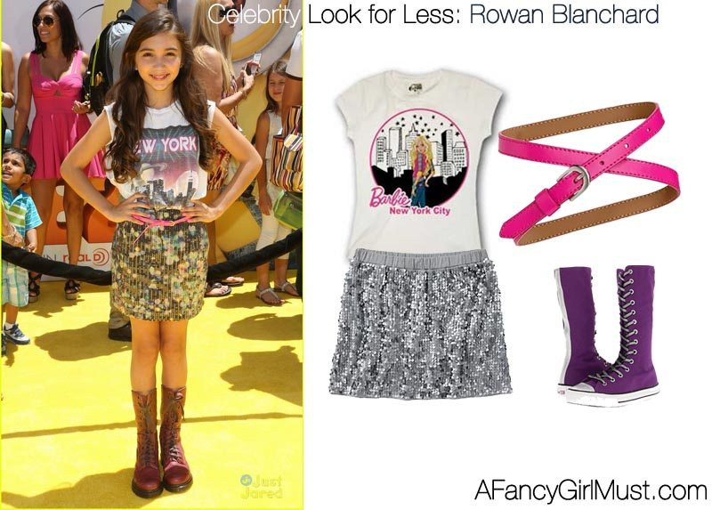 27747ad72435aa A Fancy Girl Must - Celebrity Look for Less  Rowan Blanchard - A ...