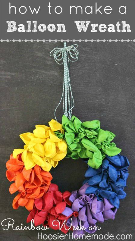 Balloon Wreath posted by Cake It Up | AFancyGirlMust.com