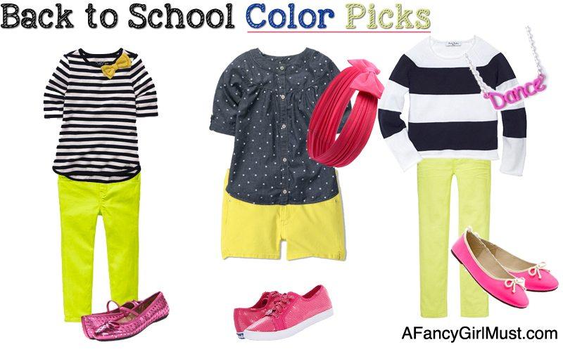 #BacktoSchool Color Picks: Navy Stripes, Yellow, Pink | AFancyGirlMust.com