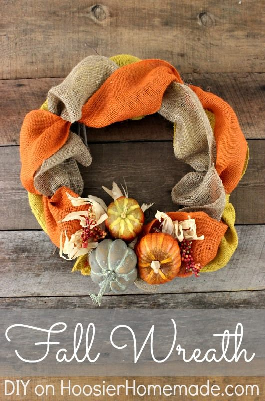 Fall Wreath via Hoosier Homemade