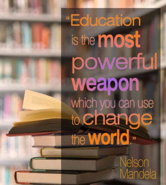 Education is the most powerful weapon which you can use to change the world - Nelson Mandela via Central Jersey Working Moms