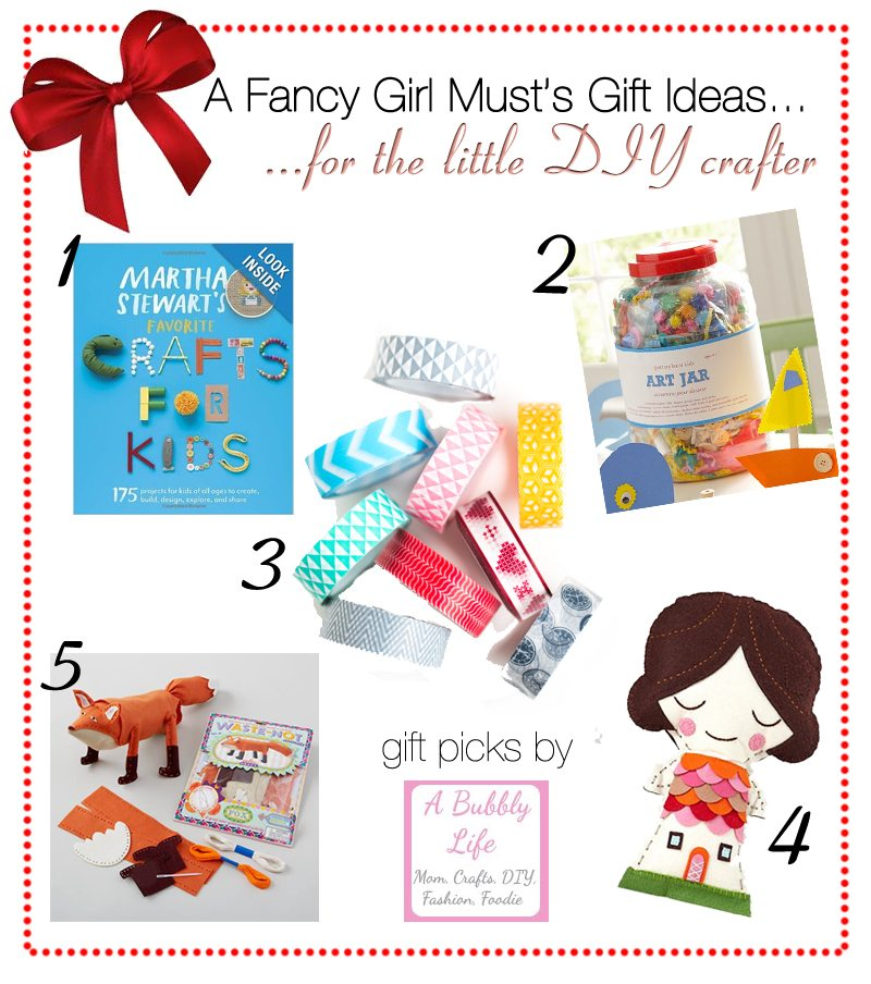 2013 Holiday Gift Guide: Gifts for the Little DIY Crafter | AFancyGirlMust.com