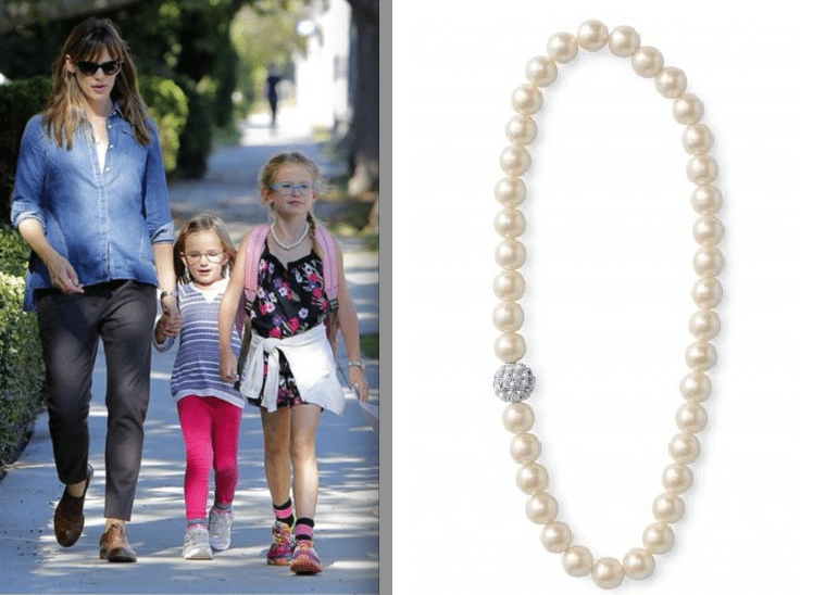 Violet Affleck wearing the Mini Soiree Necklace ($24.00) from Stella & Dot