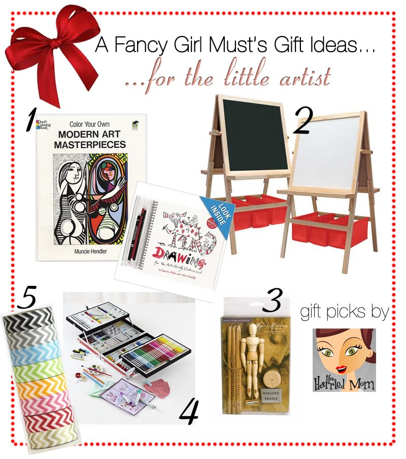 2013 Holiday Gift Guide: Gifts for the Little Artist   AFancyGirlMust.com