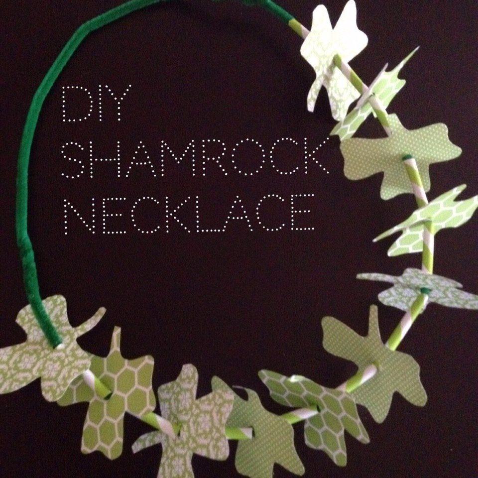 DIY Shamrock Necklace | AFancyGirlMust.com