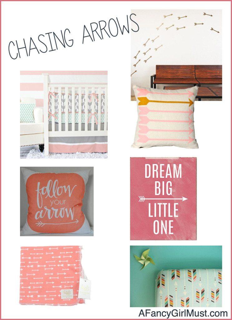 Chasing Arrows: Arrow Themed Nursery Ideas for Girls | AFancyGirlMust.com