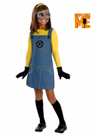 Non-Pink Halloween: Despicable Me Female Minion Girl | AFancyGirlMust.com