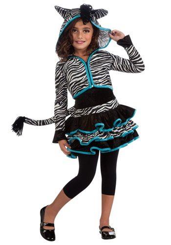 Non-Pink Halloween: Girls' Zebra Hoodie Costume | AFancyGirlMust.com