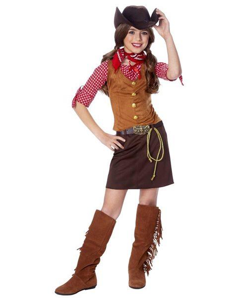 Non-Pink Halloween: Girls Gun Slinger Cowgirl | AFancyGirlMust.com