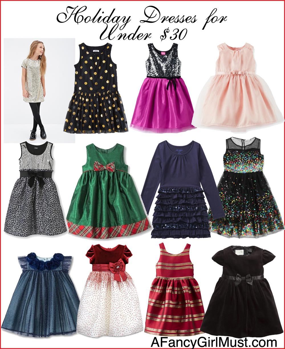 Holiday Dresses for Girls for Under $30 | AFancyGirlMust.com