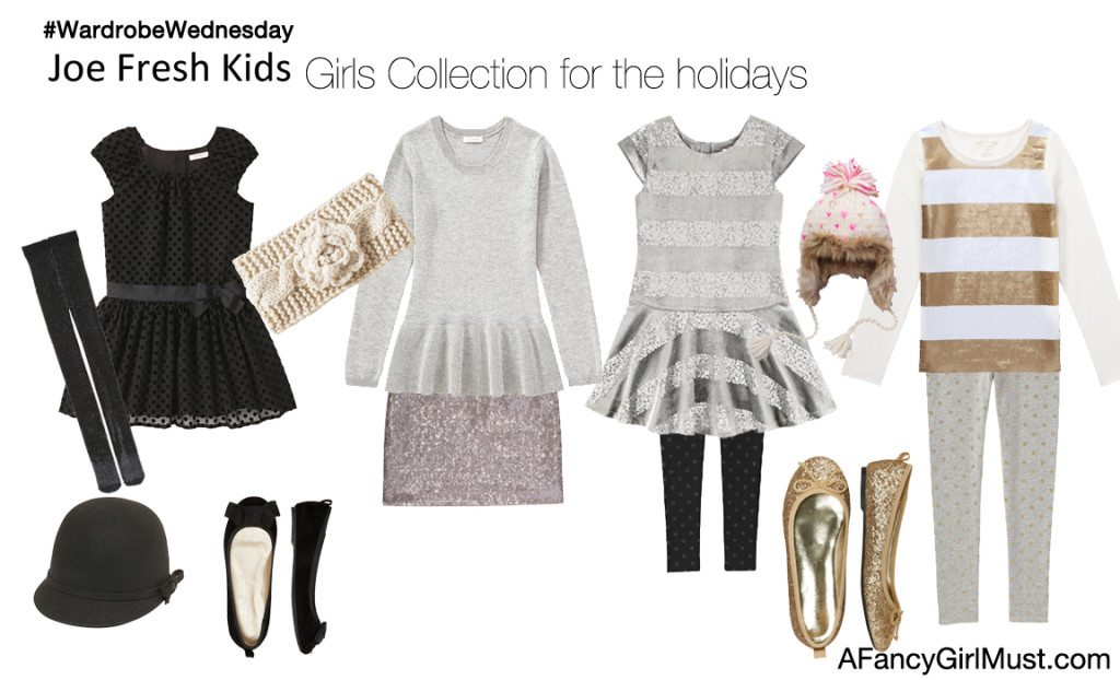 Joe Fresh Kids - Girls Holiday Looks | AFancyGirlMust.com