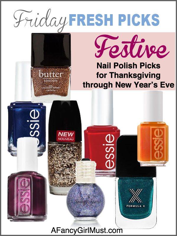 Friday Fresh Picks: Festive Nail Polish Colors for the Holidays