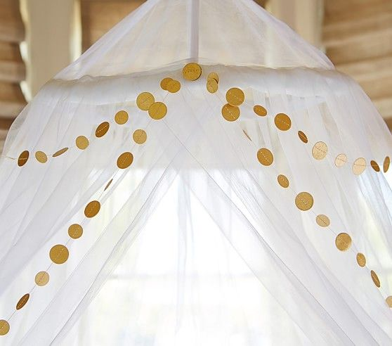 Gold Dotted Garland, Pottery Barn Kids