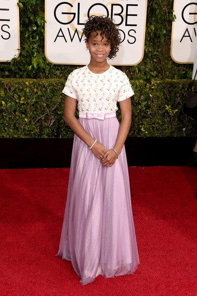 Celebrity Look 4 Less: Quvenzhane Wallis's Golden Globes Look | AFancyGirlMust.com