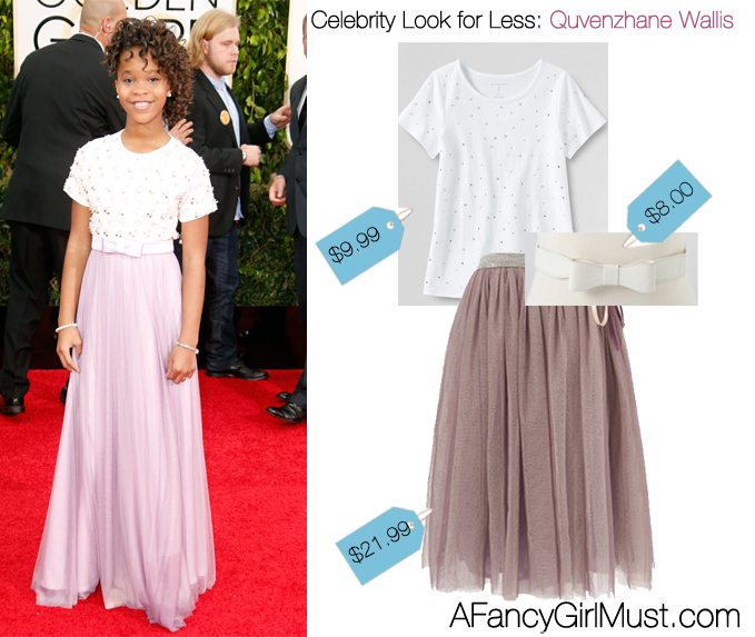Celebrity Look 4 Less: Quvenzhane Wallis's Golden Globes Look | AFancyGirlMust.com