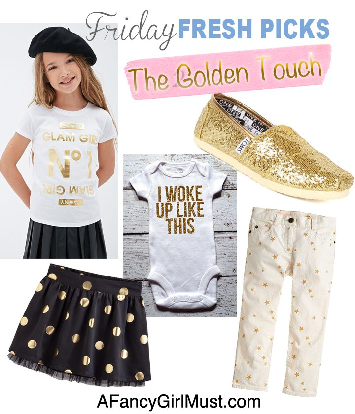 Friday Fresh Picks: 10 Ways the Gold Trend for Kids is the Best Ever! | AFancyGirlMust.com