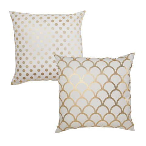Gold Metallic Pillows, Caitlin Wilson Textiles