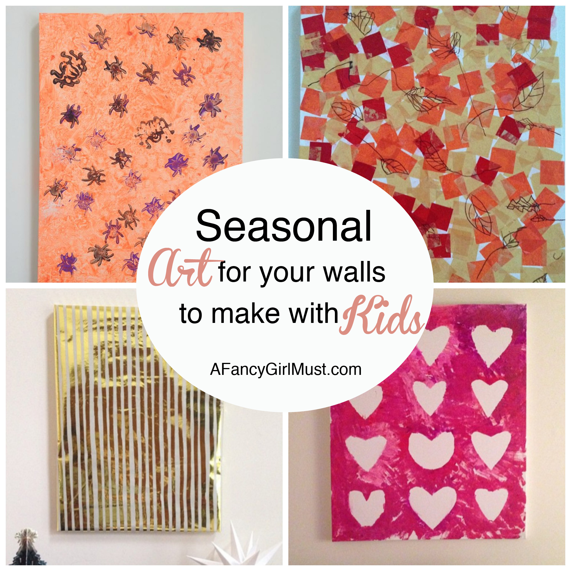 Seasonal Art for Your Walls That You Can Make with Your Kids | AFancyGirlMust.com