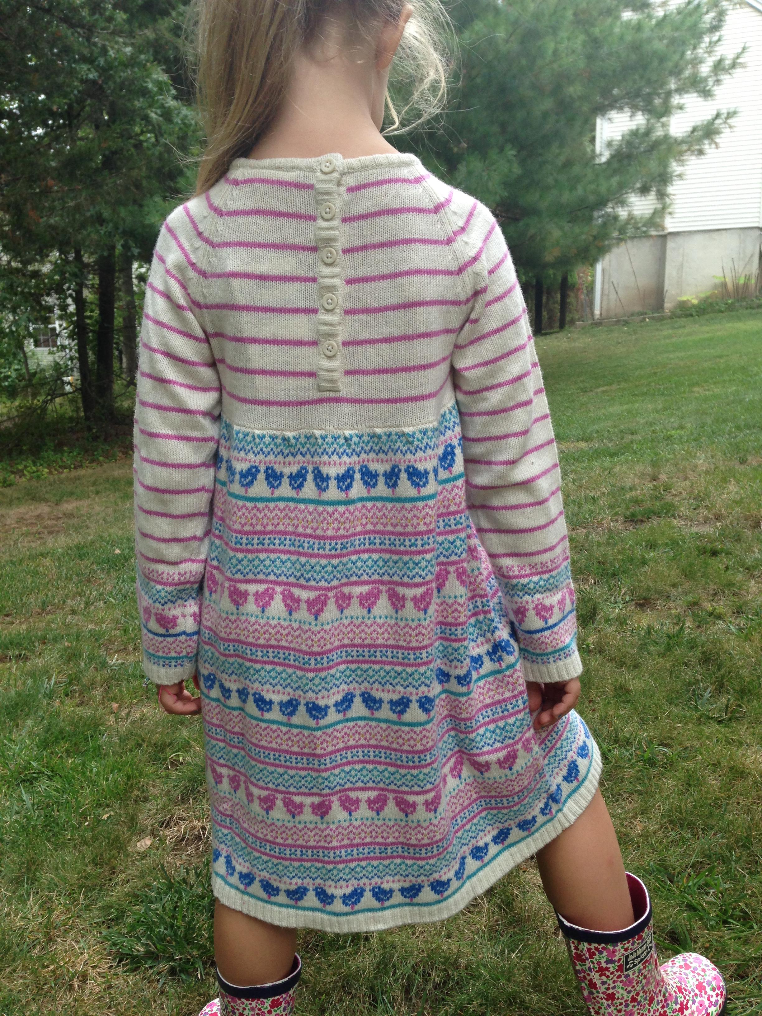 Natural Cashmere Mix Fair Isle Dress by JoJo Maman Bebe  USA