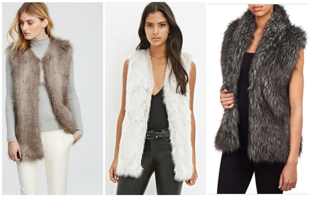 4 Beauty & Fashion Musts for Fall  - Faux Fur Vests