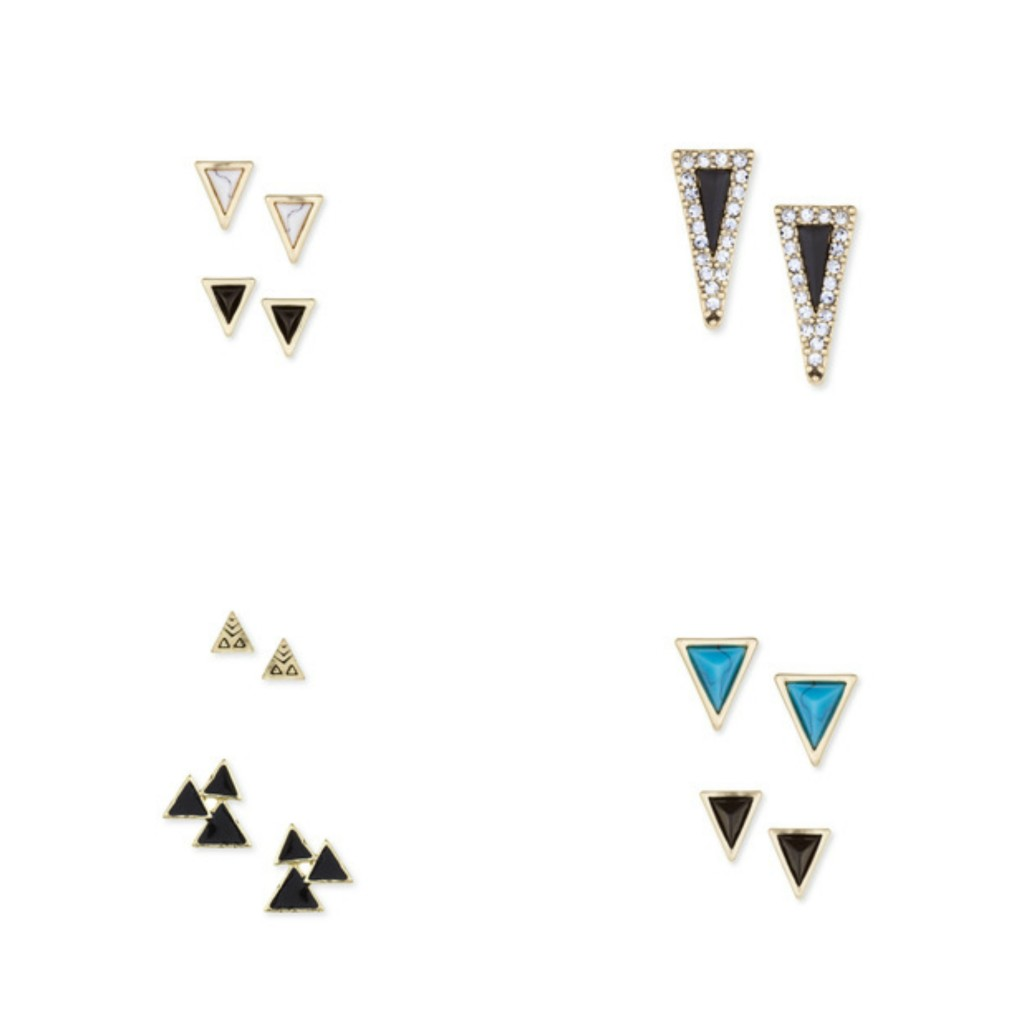 4 Beauty & Fashion Musts for Fall  - House of Harlow Triangle Studs