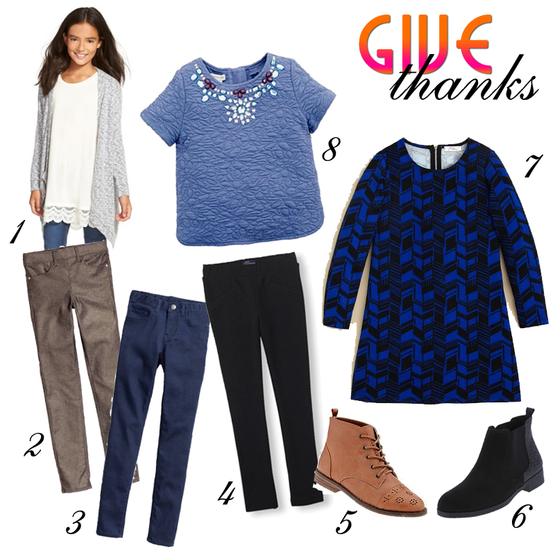 The Fancy Girls' Thanksgiving Outfits Selections