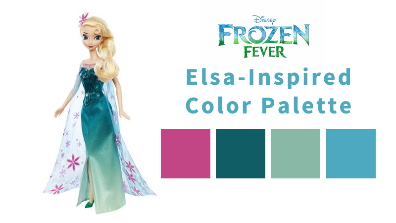 Girls' Winter Birthday Color Themes - Frozen Fever Elsa
