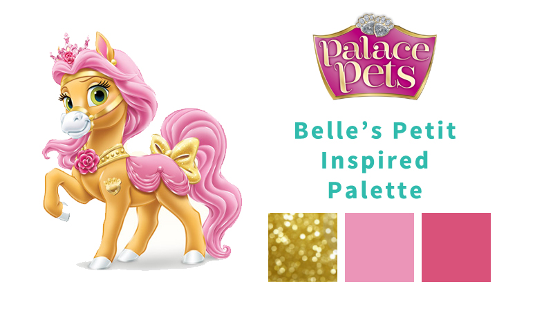 Girls' Winter Birthday Color Themes - Disney Princess Palace Pets - Belle's Petit