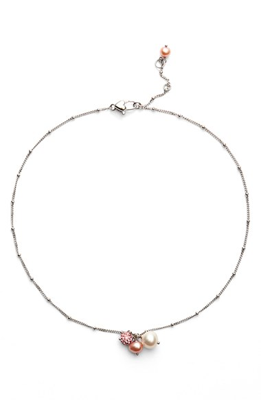 HONORA White Rose Pearl Necklace (Girls), Nordstrom