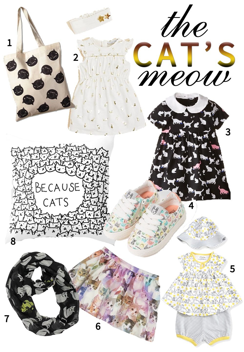 Cat Print Clothing for Girls | A Fancy Girl Must - Fashion for Girls