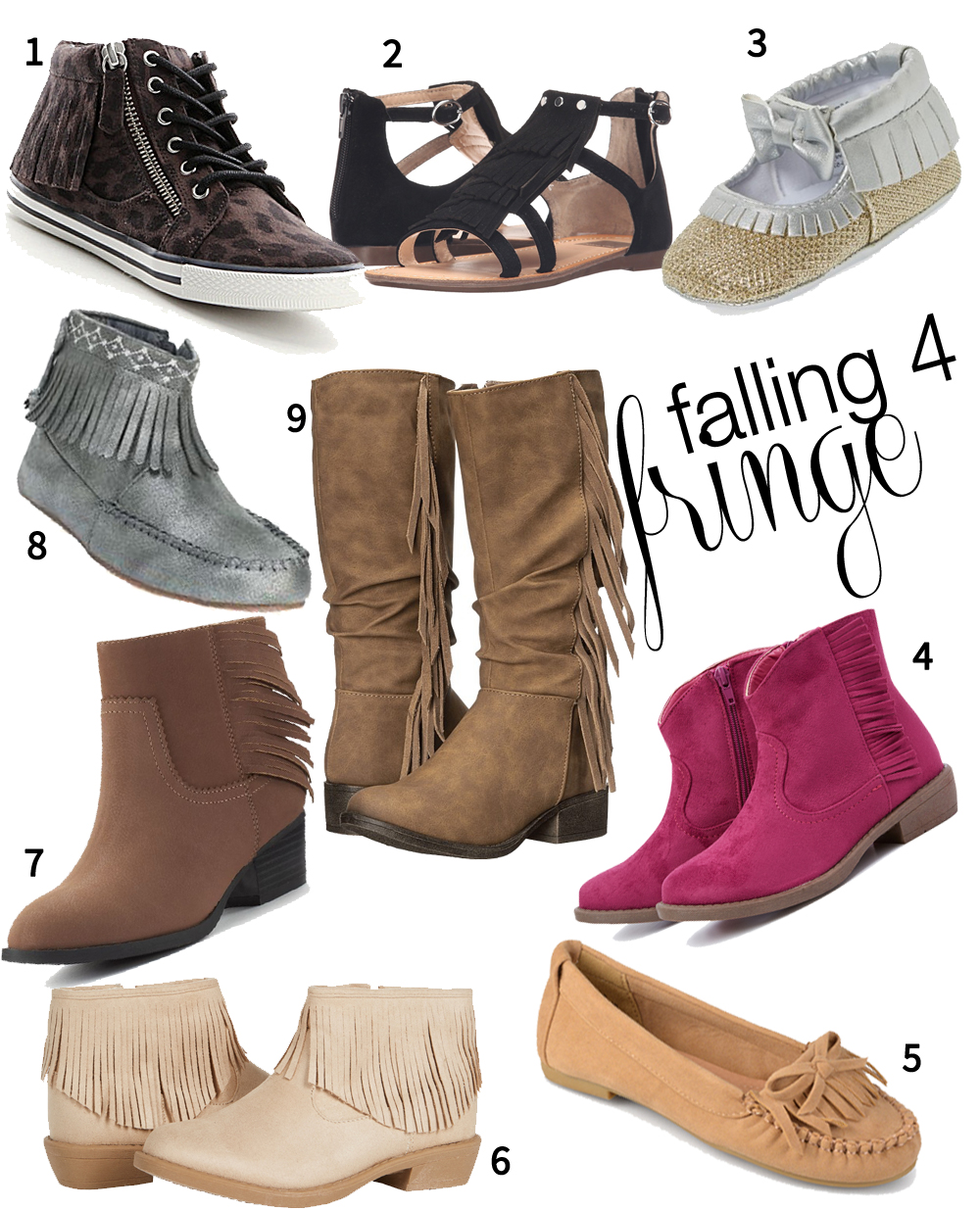 Fringe Shoes for Girls