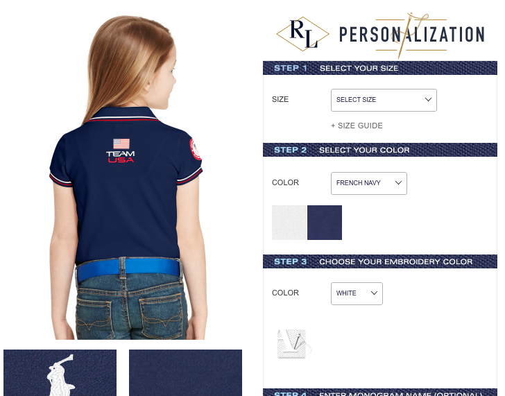 Ralph Lauren Team USA Personalized Polo
