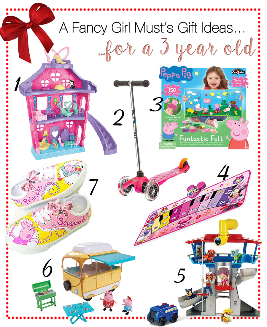 2016 Holiday Gift Guide for 3 Year Old Girls