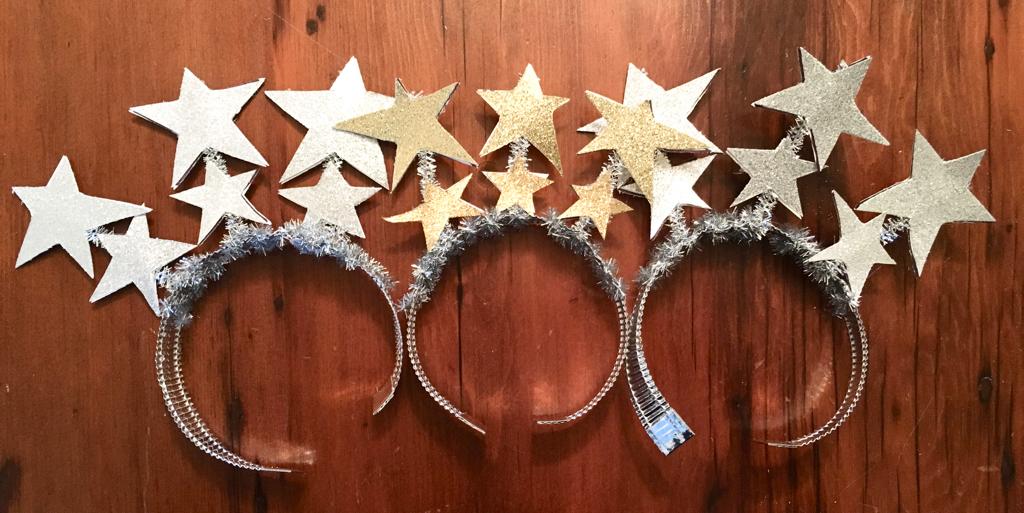 DIY Glittery Stars Headband