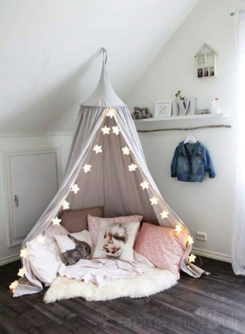 Girls Bedroom Decor Inspo: Stars, Gray and Pink
