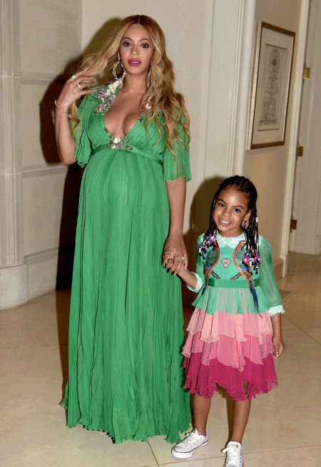 Blue Ivy Carter in Gucci at Beauty and The Beast Premiere