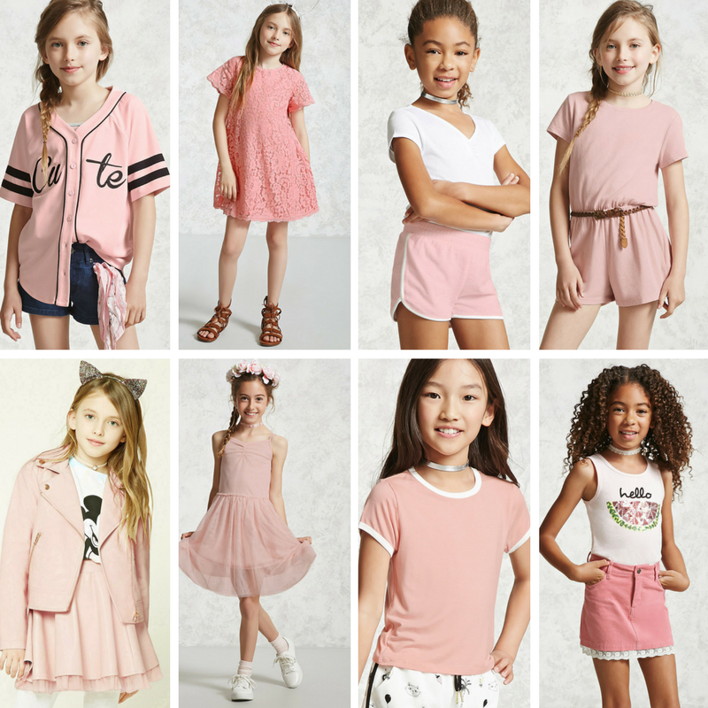 Millennial Pink for girls and tweens