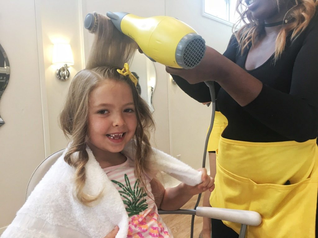 DryBar blowouts for kids