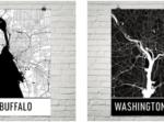 Modern Map Art city posters